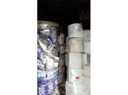 6-SFPL-54 - Stock Lot Of Rejected Defected Packaging Wrapping Striping Plastics Rolls