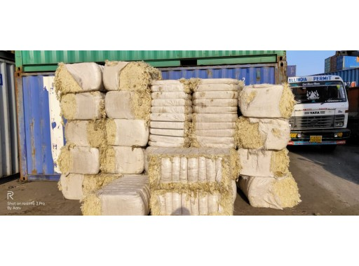 9-SFPL-67 - Carpet Grade Yellow Scoured Raw Wool